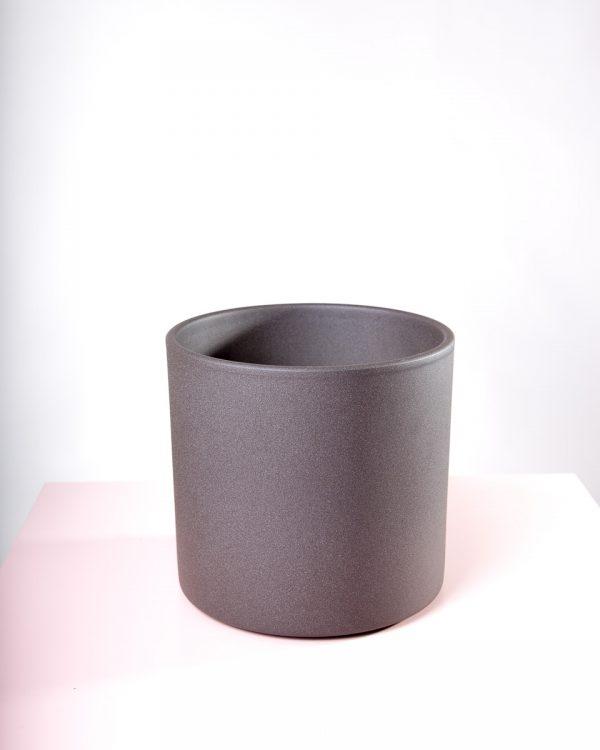Vaso decorativo para plantas Maceo sand L antracite