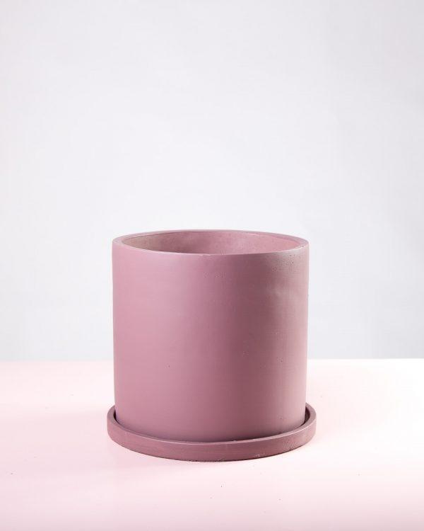Vaso decorativo de cimento rosa velho Bari