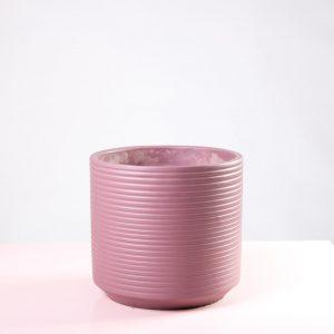 Vaso decorativo de cimento rosa velho Parma