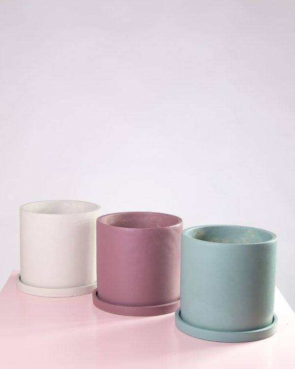 Vasos decorativos de cimento Bari
