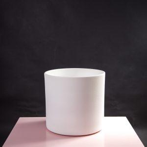 Vaso decorativo para plantas Maceo sand XL branco