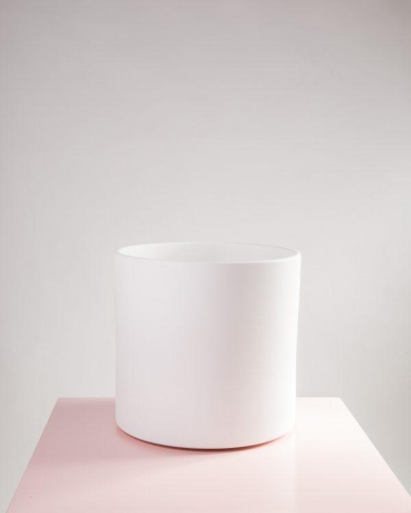 Vaso decorativo para plantas Maceo sand XXL branco