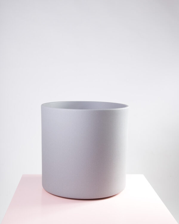 Vaso para plantas ceramica cinza