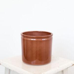 Vaso Lucca XS vidrado castanho