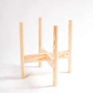 suporte para vaso em madeira