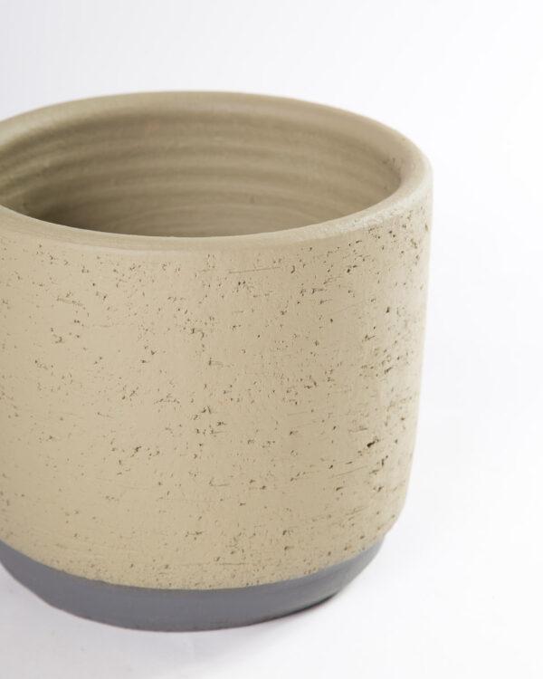 Vaso para plantas ceramica neria verde